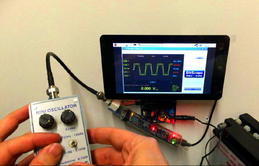 BitScope USB Oscilloscope with Raspberry Pi Touchscreen Display !
