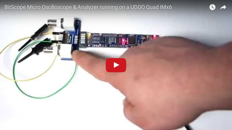 BitScope Micro and UDOO board.